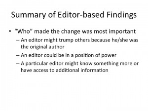 Editor-based results