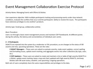 Event Management Collaboration Exercise Protocol, Page 1