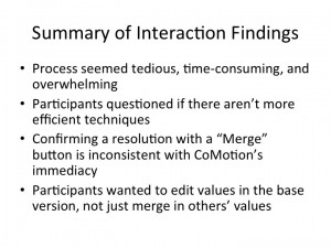 Interaction results